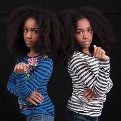 """Black Girls Rock: Twin Dancers Are Accepted to American Ballet Theatre's Prestigious Summer Program """"Twin sisters Nia and Imani Lindsay have been accepted into the prestigious American Ballet. Natural Hairstyles For Kids, Straight Hairstyles, Beautiful Children, Beautiful People, Curly Hair Styles, Natural Hair Styles, American Ballet Theatre, Ballet Theater, Black Ballerina"""