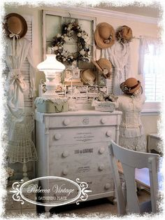 ~REWORKING THE STUDIO~ A Gathering Place - check out the placement of the dresser knobs!!!