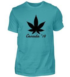 Kanada 2018 Cannabis Legalisierung T-Shirt Cannabis, Mens Tops, Women, Fashion, Canada, Color, Cotton, Moda, Women's