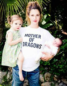 Drew Barrymore shares first picture of baby Frankie, daughter Olive for charity | Story | Wonderwall