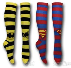 superhero knee high socks