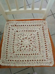 Granny Square Chair Pad By Lynne Samaan - Free Crochet Pattern - (ravelry)