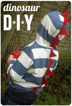 DIY Dino Boys DIY Halloween DIY Costume.... (gonna do this to my hoodie...)