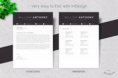Resume /Cv Template 4 Pages Word by Mr-Template on @creativemarket Cover Letter Template, Cv Template, Letter Templates, Resume Templates, Brochure Template, Student Resume Template, References Page, Resume Cv