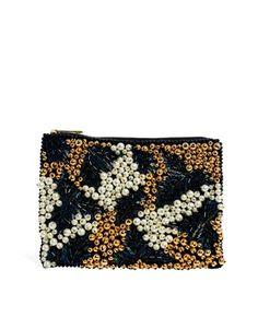 ASOS - Embellished Pearl Clutch (in Multi) www.us.asos.com $63.52
