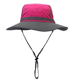Connectyle Unisex Fashion Cool Outdoor Colorblock Sun Hats Boonie Bucket  Fishing Hats with String c691169c593f