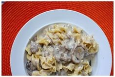 Ground Beef Stroganoff - So quick, so easy and love that it uses ground beef that we always have on hand. #dinner #recipe #groundbeef #stroganoff