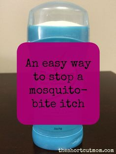 Can't stop scratching that mosquito bite? Here is a simple trick that actually works