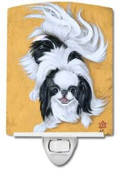 Caroline's Treasures Japanese Chin Black And White Play Vertical Flag Japanese Chin, Japanese Art, Outdoor Flags, Outdoor Decor, Orange Grey, Print Artist, Canvas Material, Fabric Material, Dog Art