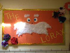Lorax- April bulletin board for Earth Day