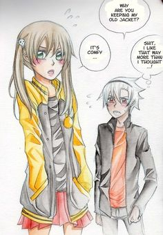More Maka in Souls Jacket~ Btw, Maka probably also likes how it smells like Soul