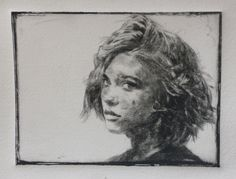 "Andreas Vanpoucke "" Léa "" Etching and dry point"