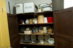 Timewarp: The pantry contains china and tins which clearly date back several decades
