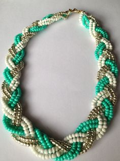 Full Braided bib Necklace by FauxedYou on Etsy, $20.00