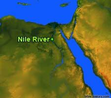 Map of the Ancient Nile River
