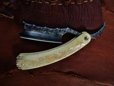 It's been a while since I shared one of Dylan's latest www.sageblades.com razors. This one is another beauty made with a fossilized walrus tusk handle... available at www.classicshaving.com/dylan-farnham-razors.htm