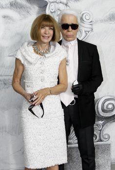 París se viste de Alta Costura. anna Wintour acompañó a su gran amigo Karl Lagerfeld en la presentación de su colección de alta costura.