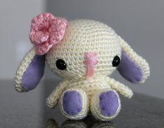 Amigurumi Easter Bunny Doll  Easter Bunny Toy  Crochet by dsgnGrl