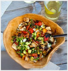 s grilled panzanella is a no-brainer. If you can chop veggies and turn on a grill, you've got this one covered. And an added bonus? I don't think that my meat-loving husband even noticed he was eating a vegetarian