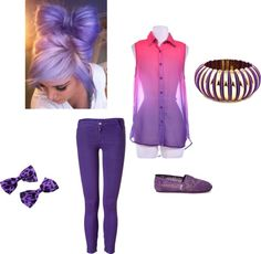 """""""PURPLE!"""" by vanessahenderson ❤ liked on Polyvore"""