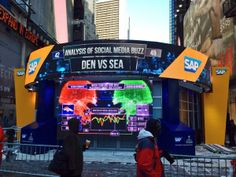 SAP Sports' Stats Zone on 42nd & Broadway at Super Bowl Boulevard