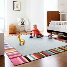 """Cool """"rug"""" option from FLOR.com  Love the idea of customizing size and design  Fleece & Thanks - Frost"""