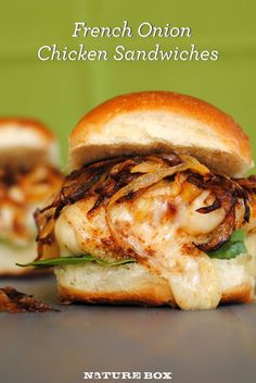 French Onion Chicken Sandwich