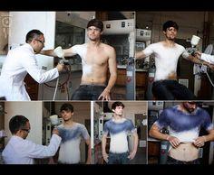 Spanish designer invents a spray on shirt !