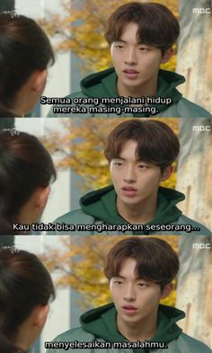 Quotes Drama Korea, Drama Quotes, Movie Quotes, Weightlifting Fairy Kim Bok Joo Quotes, Weightlifting Kim Bok Joo, Fairy Quotes, Korean Quotes, Memes Funny Faces, Korean Drama