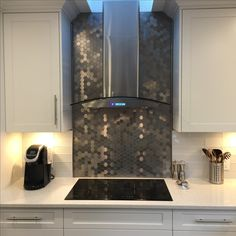 Tile Backsplash Behind Stove Decorating And Implementing Glamour Honeycomb And White Tiled Backsplash Behind Stove With Pink Beige Marble Counter