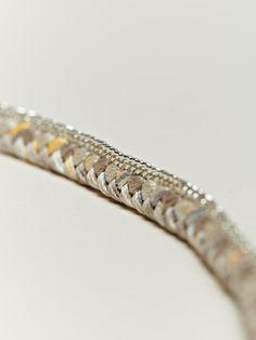 Alyssa Norton Sterling Silver And Braided Silk Bracelet