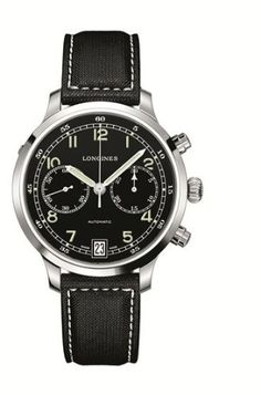 Longines Heritage Military 1938 Chronograph Black Dial Mens Watch L27904530