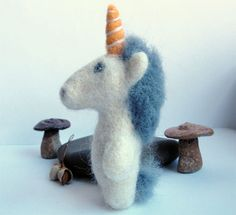 NEW  Needle felted Unicorn by 13Chestnuts on Etsy, $18.00
