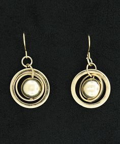 Look at this #zulilyfind! Gold Globe Drop Earrings #zulilyfinds