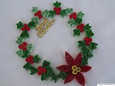 hobbies: Christmas Quilling Ornaments - Poinsettia or Euphorbia