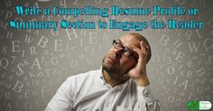 The resume profile or summary has become a key ele…