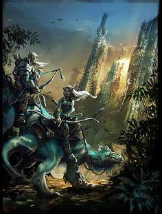 Elves by Monk610 (Max) - elves, elf - Art of Fantasy