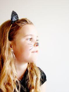 Glitter cat ear headbands Halloween Cat, Halloween Outfits, Cat Ears Headband, Alice Band, Cat Costumes, Glitter Fabric, Animal Ears, Hair Band, Headbands