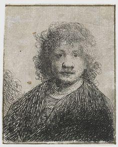 Zelfportret met brede neus, Rembrandt Harmensz. van Rijn, 1626 - 1630