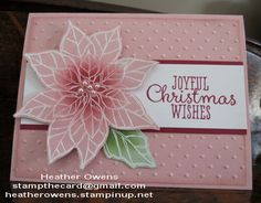 Pink Poinsettia using Joyful Christmas from Stampin' Up!