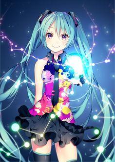 Miku Hatsune tell your world Anime Chibi, Kawaii Anime, Beautiful Anime Girl, I Love Anime, Anime Kunst, Anime Art, Manga Girl, Anime Girls, Miku Chan