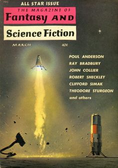 The Magazine of Fantasy and Science Fiction, March 1960, Cover by Mel Hunter