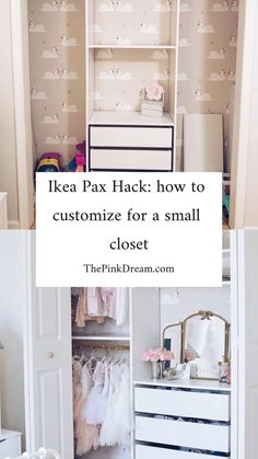 Ikea Pax hack: How to Customize a Small Closet with the Pax System – The Pink Dream – Kallax Ideas 2020