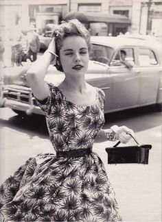 The breeze in your hair when you're all put together and at peace. 1950's beauty