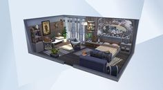 Die Sims, Sims 4 Bedroom, Sims House Design, Sims 4 Houses, Big Fish, Challenge, Vogue, Interiors, Website