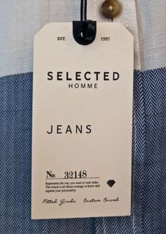 Selected Homme #hangtag