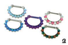 Industrial Strength septum clickers available through ClassyBodyArt