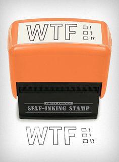 WTF Self Inking Stamp   PLASTICLAND