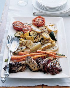 Grilled vegetables. Blanch them the day before, and then throw on the grill when you're ready to eat.