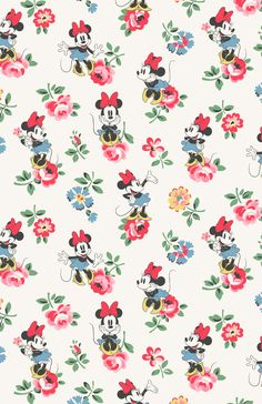 Minnie Linen Sprig | Minnie strikes a pretty pose amongst our delicate florals | Disney X Cath Kidston |